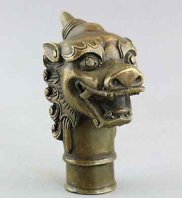 AAA Collectable China Antique Bronze Carve Myth Kylin Exorcism Bring Luck Statue