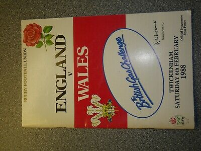 1977 & 1988 INTL RUGBY UNION COLLECTION PROGRAMMES : ENGLAND v WALES x2 + FRANCE