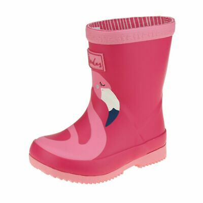 Joules Flamingo Welly Girls Pink Wellington  Boot size uk kids children