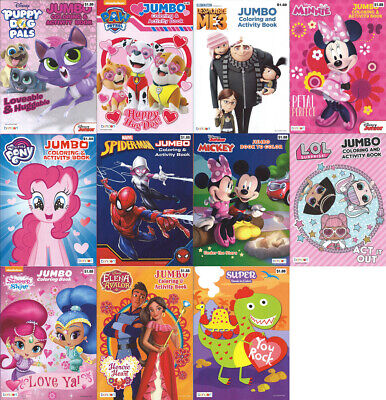 Lot of 11 Coloring Books - Disney Mickey Spiderman for Children Boy Girl Kids