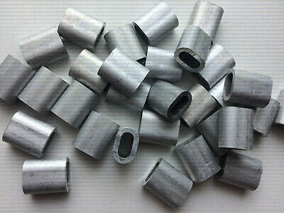 10x Aluminium Talurit Ferrules for  6mm //6.5mm Steel Wire Rope Stainless Rigging