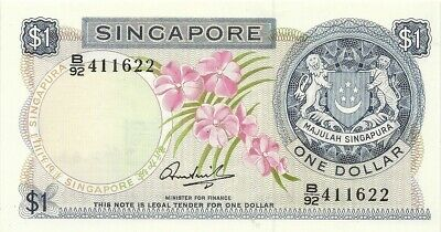 SINGAPORE $1 1971 ~ P-1c ~ NICE CHOICE CRISP UNCIRCULATED NOTE
