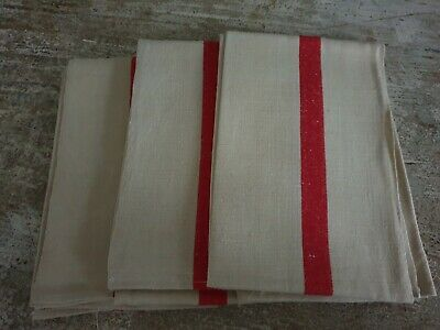 French Linean Tea Towel With Red Stripe