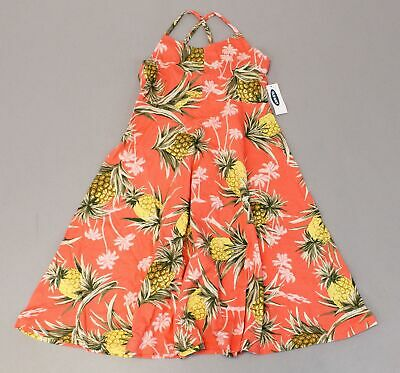 Old Navy Girl's Floral Fit And Flare Cami Dress TM8 Pink Large (US:10-12) NWT