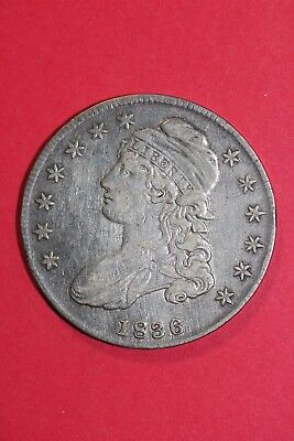 1836 Capped Bust Half Dollar O-120 R4 Lettered Edge Fast FREE Shipping OCE 020