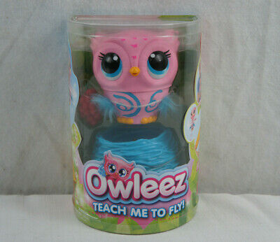 Owleez Baby Owl Interactive Flying Pet Pink Toy New