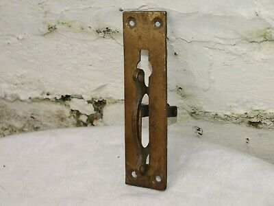 Antique Servants Butlers Bell Pull Brass Crank Bracket With Single Swinger