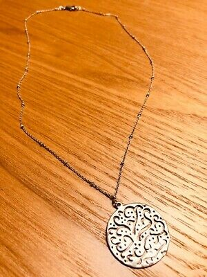 """Silpada N2328 Sterling Silvr Cut Above Filigree Look Necklace  NEW 18/"""""""