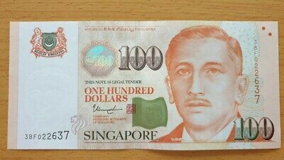 SINGAPORE $100 Dollars ND 2019 P 50 Youth 3 Solid Stars UNC Banknote