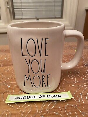 Rae Dunn LOVE YOU MORE Mug Coffee Tea Mug Valentine's Day 2020 VHTF *Brand New