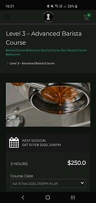 Barista Course Voucher level 3 at The Espresso school Melbourne