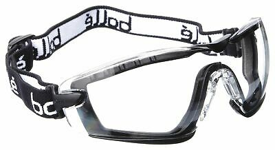 Bolle Safety Anti-Fog, Scratch-Resistant Non-Vented Dust Goggle, Clear Lens