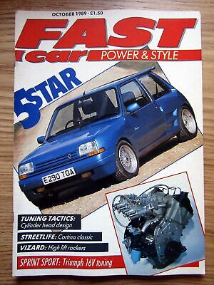 Fast Car 1989 Renault 5 GT Turbo Dimma & Subjective Body Styling PHE Triumph 16v
