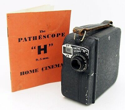 Vintage Pathescope H 9.5mm Cine Camera & Instruction Manual #2570MS
