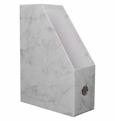 WHSmith Moderno Woman Marble Magazine File Storage With Fashionable Pink Lining