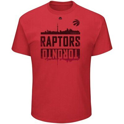 Toronto Raptors Majestic Capacity Crowd Triple Peak T-Shirt - Red
