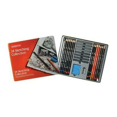 DERWENT SKETCHING COLLECTION  - Tin of 24 Pencils