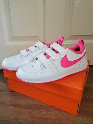 Nike Pico 5 GS Women's Girls Trainers Shoes White/Pink Size UK 5