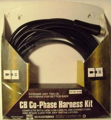 CB Co-Phase Harness Kit w// Low-Loss PL-259 Connector for Truck//Van//Camper