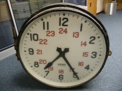 Large Gents of Leicester Double Sided Station Clock