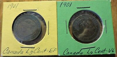 2-1901 Canada Large Cents
