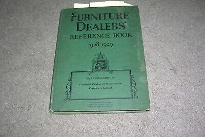 Furniture Dealers Reference Book, 1928-1929, illustrated hardcover