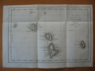 1774 - COOK  -  2 Maps  SOCIETY Islands