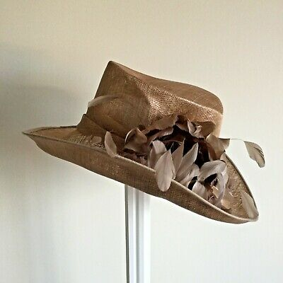 Ladies Bronze  Hat Weddings/Races/Occasions By Hat Box Good Condition