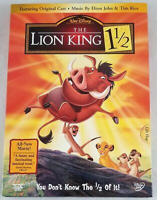 Disney The Lion King 1 1/2 DVD 2 Disc Set Sealed With Slip Cover 2004 Release