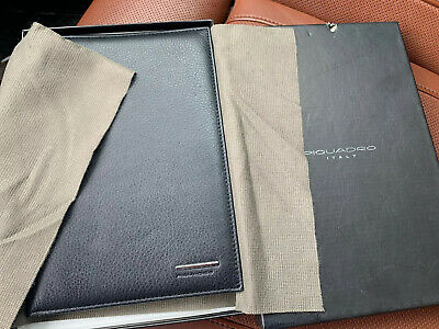 PIQUADRO Quality Control Black Leather Address Book 8.5 x 6 ITALY c.1996