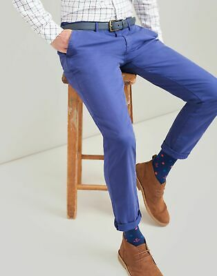 Joules Mens The Laundered Chino Slim Fit Trousers - SKIPPER BLUE