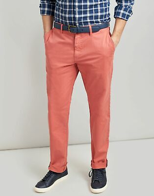 Joules Mens The Laundered Chino Slim Fit Trousers - BURNT ORANGE
