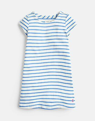 Joules 204608 A Line Shaped Dress in BLUE STRIPE