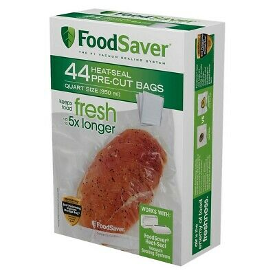 FoodSaver FSFSBF0226-DS Vacuum Sealer Pre-Cut 1 Quart Bags, 44-Pack