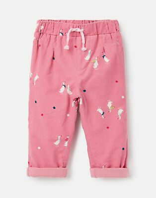 Joules Baby Scarlett Cord Trouser - PINK GEESE