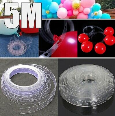 5M Balloon Strip Arch Party Connect Chain Plastic Tape Decorating String Wedding