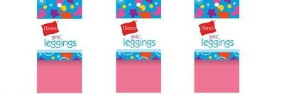 Hanes Girls Pink Footless Leggings Small Nylon Spandex Color : Punch 3 Pairs