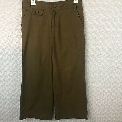 Marc By Marc Jacobs Brown Pinstripe Wide Leg Pants Size 2 Trousers Great Cond