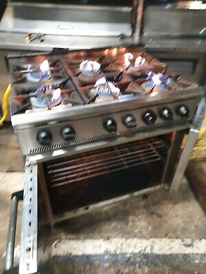 Parry 6 Burner Commercial Cooker And Oven