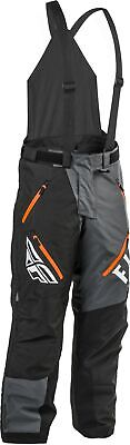 Fly Racing SNX Pro Mens Snow Bibs Black/Gray/Orange 4XL