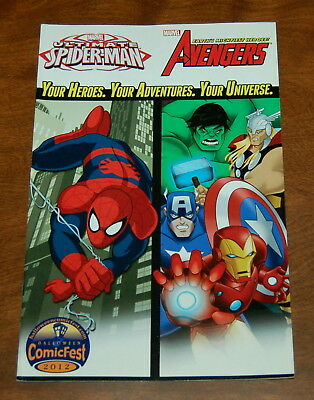 Marvel Universe Avengers and Ultimate Spider-Man #1 Comicfest 2012 VF/NM