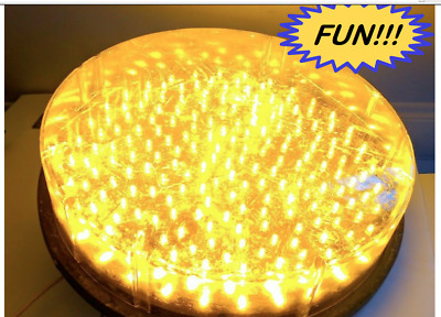 """11"""" Yellow Traffic Light Ge Led #Dr6-Ycfb-01A-41 120V 