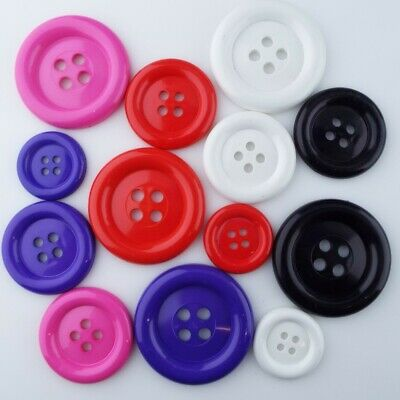 Extra Large 44mm 51mm 57mm White Lightweight Clown 4 Hole Buttons Y53A Y53B Y53C