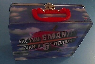 Cardinal ARE YOU SMARTER THAN A 5th GRADER Card/CD Game in Carry Tin MINT LNC!