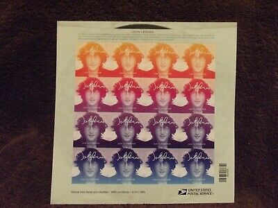 USPS New John Lennon Music Icon Pane of 16 2018 MNH