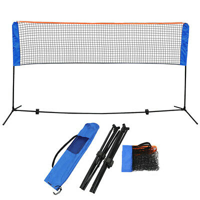 10Feet Adjustable Tennis Badminton Volleyball Net with Stand Frame & Carry Bag L