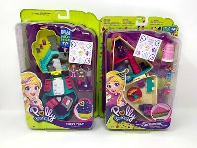Polly Pocket Playset Lot of 2 Sweet Treat and Birthday Cake Bash New