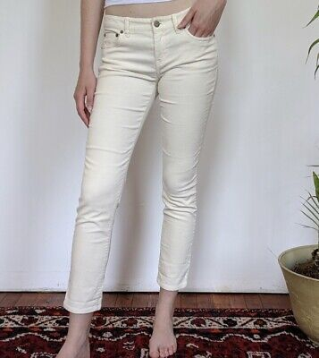Vineyard Vines Womens Cream Corduroy Ankle Pants Size 8 NWOT Stretch Straight