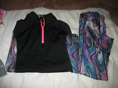 2 PC Material Girl Active Juniors XS Leggings Pants Jacket Athleisure Fitness