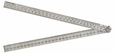 """KRISTEEL 600mm 24"""" Folding Rule with Angle Calculationc Line of Chord Ruler"""